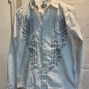 South Pole embroidered button down